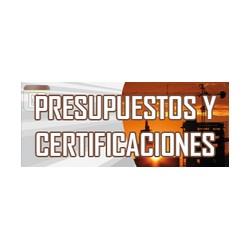 PRESUPUESTOS Y CERTIFICACIONES