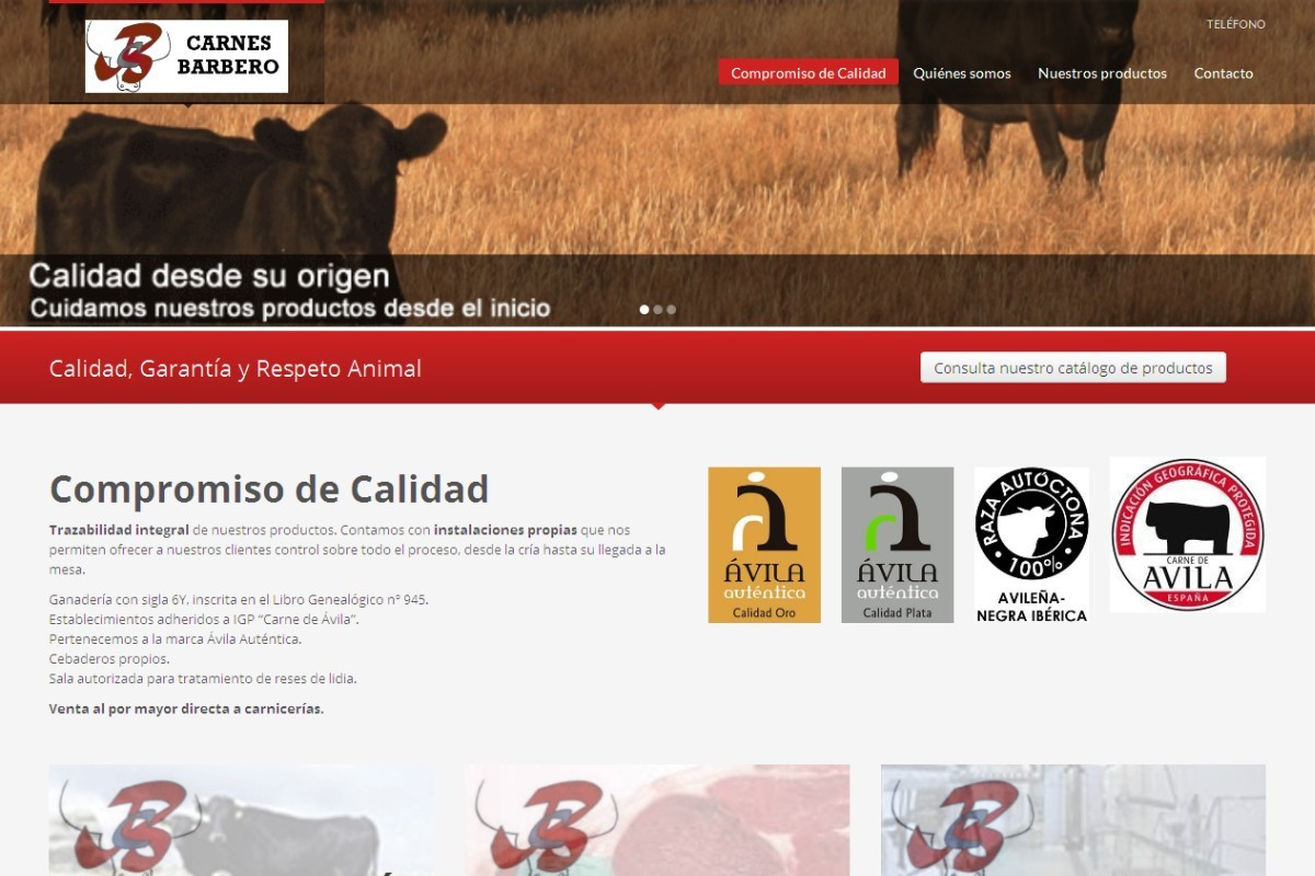 carnesbarbero.com – captura web 01
