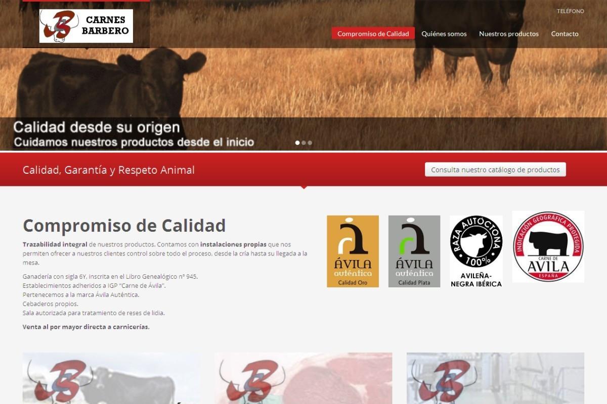 carnesbarbero.com – captura web 01